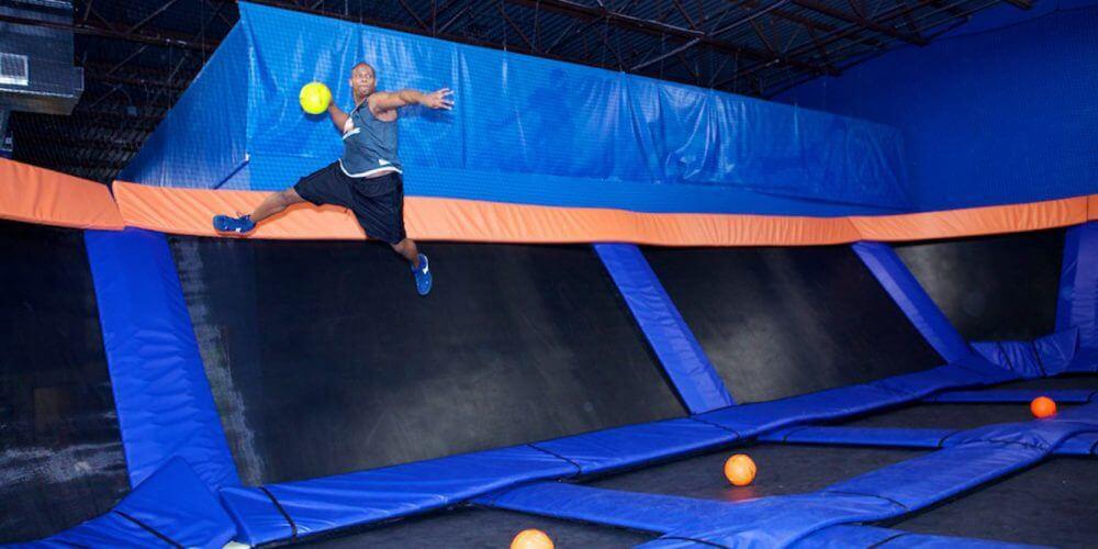 trampoline dodgeball Vaughan