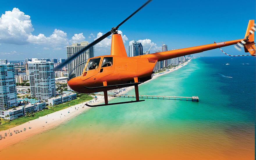 miami plane tours - helicopter tour of miami