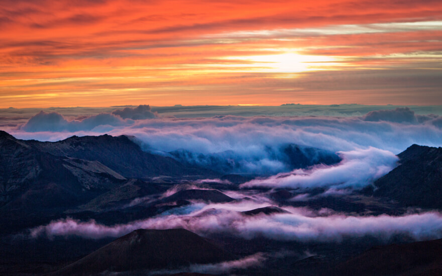 sunrise on haleakala