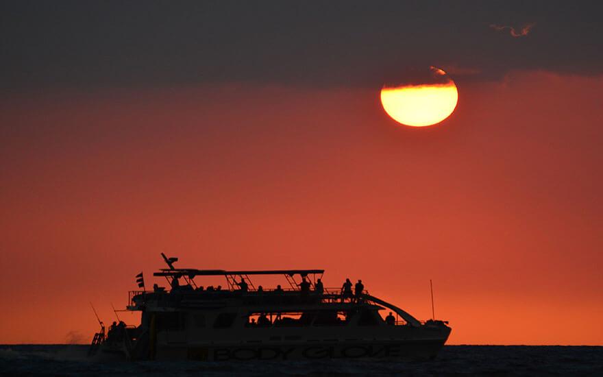 sunset dinner cruise kona
