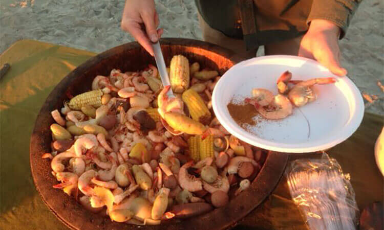 Lowcountry Boil Beachside Cookout